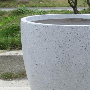 Contemporary Grey Marble Light Concrete Egg Planter74675