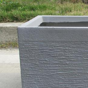 Ribbed Stone Grey Light Concrete Trough Planter74719