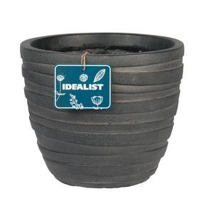 Row Black Light Concrete Egg Planter74738