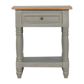 In504-1-Drawer-Grey-Bedside-With-Wooden-Top-And-Turned-Legs_Artisan-Furniture_Treniq_0