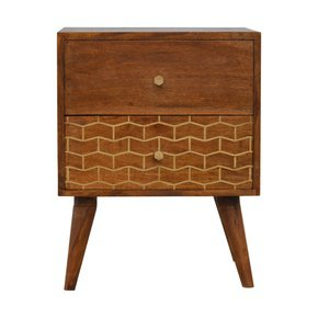 In347-2-Drawer-Chestnut-Bedside-With-Gold-Patterned-Drawer-Front-_Artisan-Furniture_Treniq_0