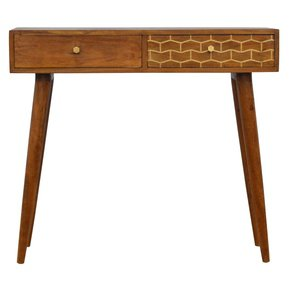 In348-2-Drawer-Chestnut-Writing-Desk-With-Gold-Patterned-Drawer-Front-_Artisan-Furniture_Treniq_0