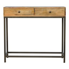 2-Drawer-Console-Table-With-Iron-Base_Artisan-Furniture_Treniq_0