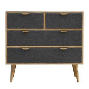 In218-2-Over-2-Chest-With-Grey-Tweed-Fabric-Drawer-Fronts_Artisan-Furniture_Treniq_0