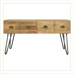 4-Drawer-Coffee-Table-With-Iron-Base_Artisan-Furniture_Treniq_0