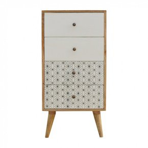 In357-4-Drawer-Tallboy-With-2-Geometric-Screen-Printed-Drawer-Fronts_Artisan-Furniture_Treniq_0