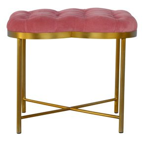 In535-Clover-Shaped-Deep-Button-Footstool-Upholstered-Pink-Velvet-With-Gold_Artisan-Furniture_Treniq_0