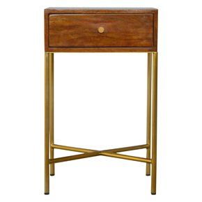 In475-Chestnut-End-Table-With-Gold-Criss-Cross-Base_Artisan-Furniture_Treniq_0