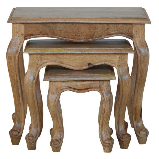 French style stool set of 3 stools artisan furniture treniq 1 1557480381072