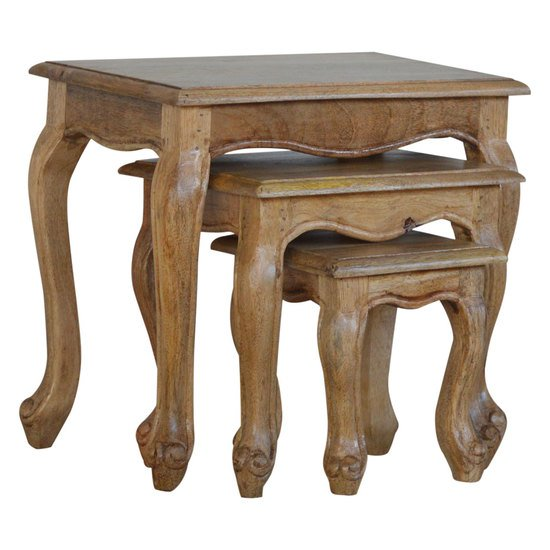 French style stool set of 3 stools artisan furniture treniq 1 1557480381217