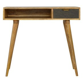 In184-Writing-Desk-With-One-Grey-Tweed-Fabric-Drawer-Front_Artisan-Furniture_Treniq_0