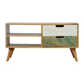 In678-Nordic-Style-Media-Unit-With-Foliage-Leaf-Print-Drawer-Front_Artisan-Furniture_Treniq_0
