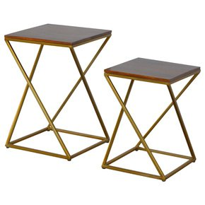 In465-Set-Of-2-Chestnut-Nesting-Tables-With-Gold-Base_Artisan-Furniture_Treniq_0