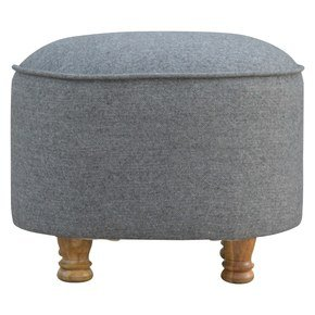 In288-Grey-Tweed-Oval-Footstool_Artisan-Furniture_Treniq_0