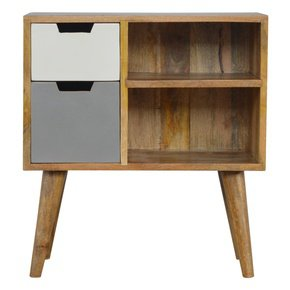 In250-Nordic-Style-Grey-Hand-Painted-Open-Cabinet-With-2-Drawers_Artisan-Furniture_Treniq_0