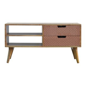 Nordic-Style-Media-Unit-With-Perforated-Copper-Front-Drawers_Artisan-Furniture_Treniq_0