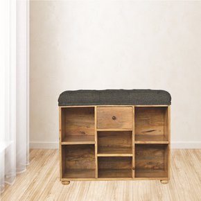 In014-Shoe-Storage-Bench-With-Upholstered-Black-Tweed-Seat_Artisan-Furniture_Treniq_0