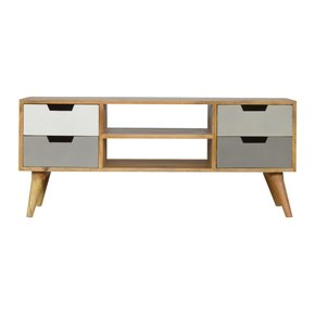 In025-Media-Unit-With-4-Grey-Hand-Painted-Drawers-And-2-Open-Slots_Artisan-Furniture_Treniq_0