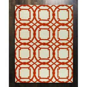 Arabesque Rug-Coral-6' X 9'