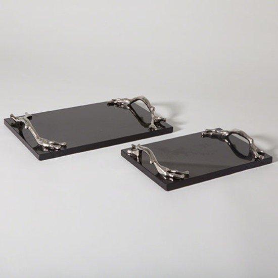 9.92274  twig tray nickel   black granite sm
