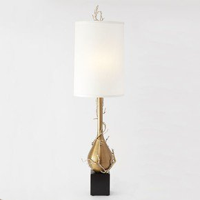 Twig Bulb Floor Lamp-Brass