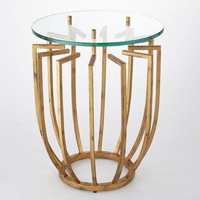 Spoke Table-Hammered Gold