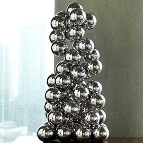 Sphere Sculpture-Nickel