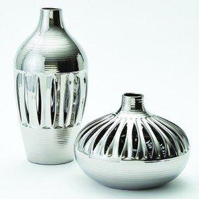 Slit Vase-Silver-Tall