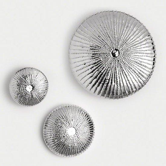 9.92182  sea urchin wall sculpture nickel lg