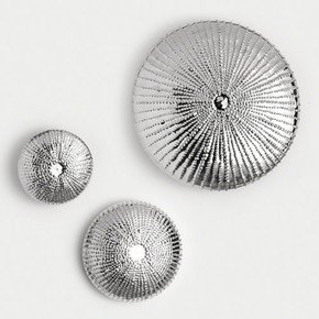 Sea Urchin Wall Sculpture-Nickel-Med