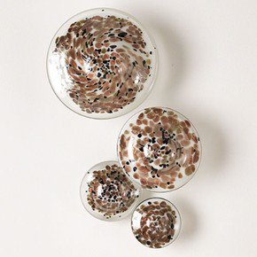 S/4 Glass Wall Mushrooms-Metallic