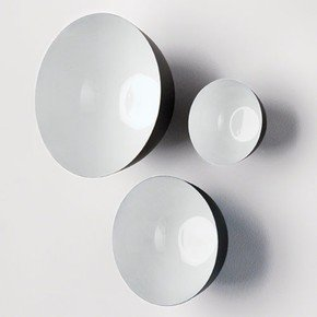 S/3 Flying Wall Bowls-White Sand