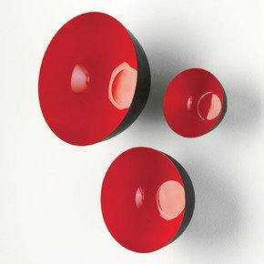 S/3 Flying Wall Bowls-Fiery Red