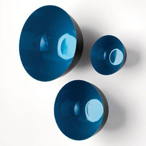 S/3 Flying Wall Bowls-Ocean Depth