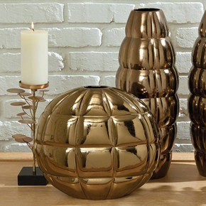 Pillow Pocket Vase-Bronze