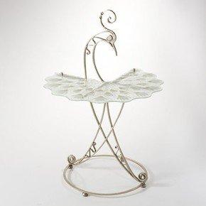Peacock Table Base-Nickel