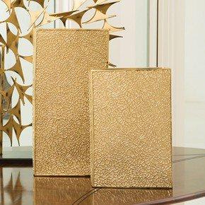 Organic Lace Vase-Gold-Med