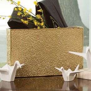 Organic Lace Vase-Gold-Sm