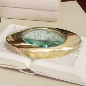 Oval Magnifying Glass-Brass