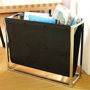 Magazine Caddy-Black Leather