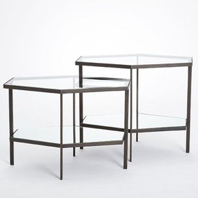 Hexagon Table-Bronze