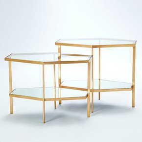 Hexagon Table-Gold-Tall