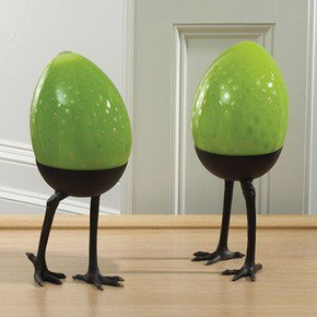 Green Egg On Legs-Standing