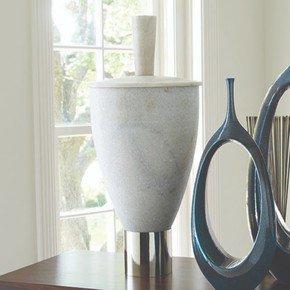 Grande Marble Jar W/Lid