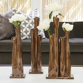 Great Barrier Vase-Bronze-Lg