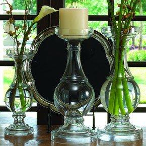 Glass Banister Candleholder/Vase-Lg