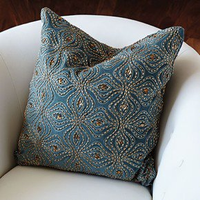 Encrusted Petal Pillow