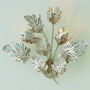 Dancing Leaves Wall Sconce-Nickel