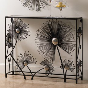 Dandelion Console-Black & Nickel