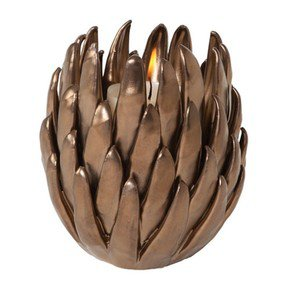 Chrysanthemum T-Lite Holder-Matte Bronze